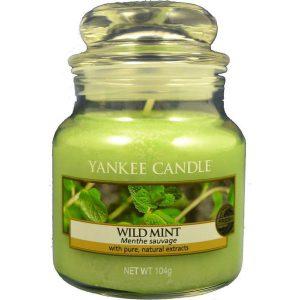 Świeca zapachowa Wild Mint Yankee Candle
